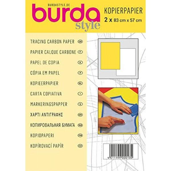 Καρμπόν Burda άσπρο-κίτρινο