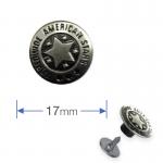 Κουμπιά για τζiν καρφωτά ασημί Prym