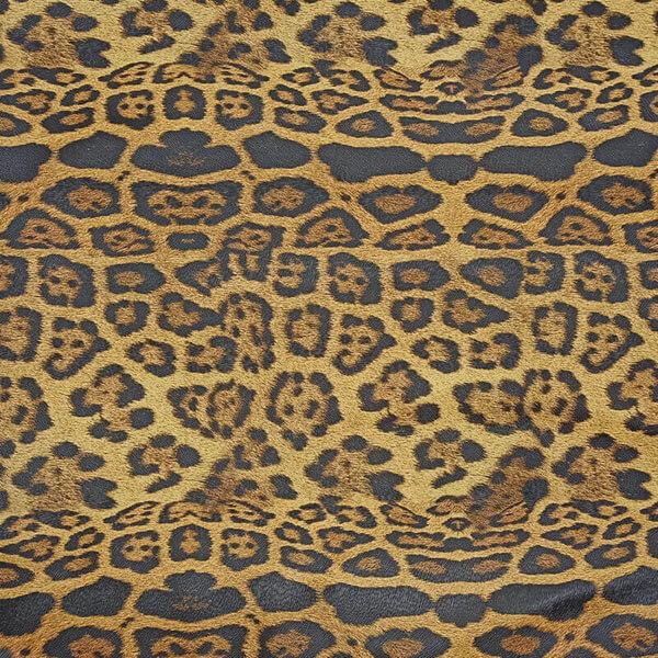 Δερματίνη Leopard Φ140 καμηλό-μαύρο